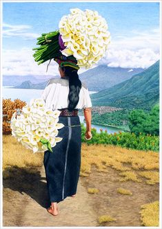 Princesa tz'utujil con sus flores #Guatemala www.coeduc.org