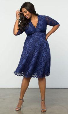 Mademoiselle Lace Dress - Sapphire Blue #plussize #plussizefashion #psfashion Shop www.curvaliciousclothes.com