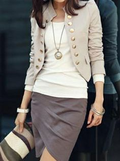 Graceful Fashion contracted and spell able Blazers (Apricot,white,Black,Blue,Pink,White) Blazers from stylishplus.com
