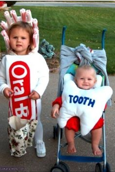 Toothpaste and floss costumes