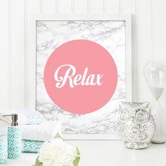 Relax Bathroom Print Marble Texture Pastal Print Home Decor