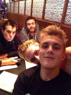 Jake Paul,Logan Paul,Curtis Lepore,and Marcus Johns