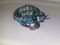 Wesblock Genuine Leather Multi Wrap Glass Bead /Stone by SimplyYue, $25.00
