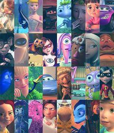 Pixar girls