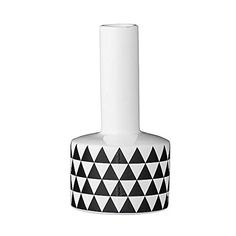 bloomingville vase diamond wei grau 14 x 43cm heim. Black Bedroom Furniture Sets. Home Design Ideas
