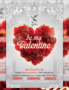 Be My Valentines Party Day Flyer Template  Be My Valentines Party Day Flyer Template is the great flyer design to promote valentine day event. This flyer will attract more crowd than before.