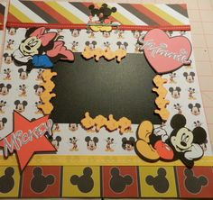 Disney Mickey and Minnie Mouse 12 x 12 Scrapbook by lynnmiller1,