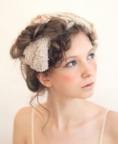 I love this idea, the hair, the make-up, the femininity of it ... would make a great bridal do.