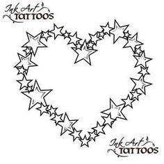 Star Heart Tattoo,