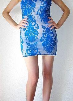 Kaufe meinen Artikel bei #Kleiderkreisel http://www.kleiderkreisel.de/damenmode/kurze-kleider/110752786-elegantes-besticktes-blaues-kleid-grm