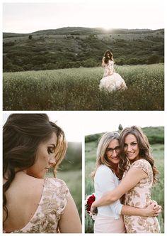 Bride in a modest wedding dress with her mom | LDS Bride Blog by LatterDayBride | Winter Wedding | Salt Lake Temple | Modest Wedding Dress | Mermaid Silhouette | Lace | Blush | Pink | Custom-designed bridal | Mormon bride
