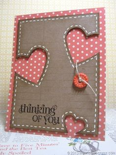 Thinking of You card created by Lianne Carper using the Curly Cute stamp set by Stampin' Up!
