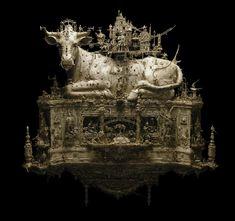 Kris Kuksi – Dharma Bovine – sculpture
