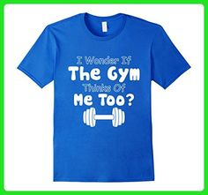 Mens Gym Thinks Of Me Too T Shirt Medium Royal Blue - Workout shirts (*Amazon Partner-Link)