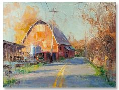 "Mike Wise | ""Farm to Market"" I Oil, 14 x 18"""
