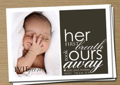 <3 sweetest birth annoucement ever... and I also LOVE the name Ivie Jane... too cute