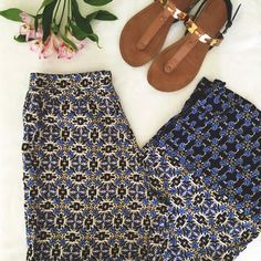 """F21 Tribal Print Wide Leg Pants Super cute and so on trend right now! Great for the beach, a picnic, festival- you will pull these out of your closet time and again this summer! I believe they are to be worn high waisted. 13"""" elastic waist, 13"""" rise, 29"""" inseam Forever 21 Pants Wide Leg"""