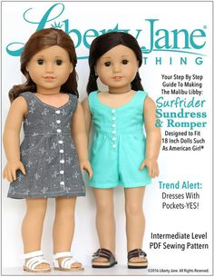 "SURFRIDER SUNDRESS AND ROMPER 18"" DOLL CLOTHES"