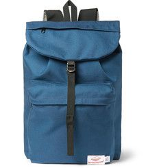 5d26ee7a74 Battenwear - Day Hiker Canvas Backpack Blue Canvas, Made In America, Canvas  Backpack,