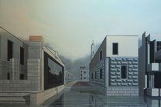 « Les Venise possibles », huile sur bois de Arduino Cantàfora, 2014, 80x120cm