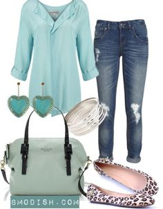 Spring fashion - shirt, jeans, bag