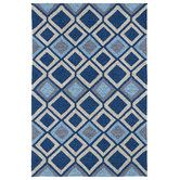 Found it at Wayfair - Kelly Home & Porch Blue Geometric Indoor/Outdoor Area Rug