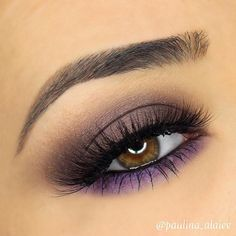 SMOKEY PURPLE I used the new @anastasiabeverlyhills Self-Made Palette BROWS: @anastasiabeverlyhills dipbrow pomade in 'dark brown' EYES: @anastasiabeverlyhills Self-Made Palette, 'hot chocolate' through the crease, 'metallic plum' on the lid, 'blush' on the center of the lid, and 'deep purple' on my lower lash line. @sigmabeauty standout eyes gel liner in 'wicked' on my waterline. @esqido lashes in 'voila lash'