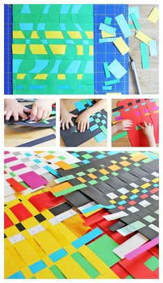 Paper Weaving Activity for Kids