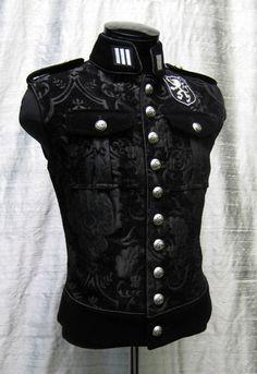 Yes please!! Shrine Gothic Royal Marine Vest Jacket Military Uniform Rock Band Goth Steampunk   eBay