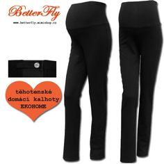 domácí těhotesnké kalhoty / tepláky EKOHOME > varianta černé > XS