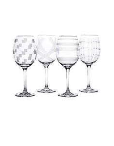 Expressions Wine Glasses - Set of 4 like the Micasa ones but not everyone has them