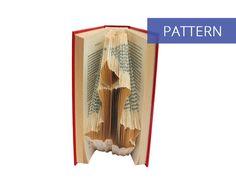 Folded Book Art Pattern - Christmas Candle - 141 Folds - Bookfolding Pattern - Folded Book Pattern - Book Folding pattern