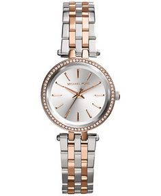Michael Kors Women's Petite Darci Two-Tone Stainless Steel Bracelet Watch 26mm MK3298