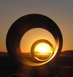 Nancy Holt's Sun Tunnels.  Great Basin Desert, UT.  Happy belated winter solstice!