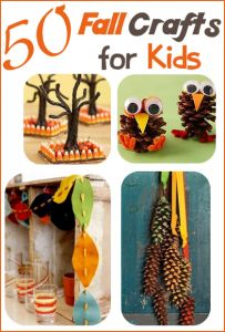 Looking for fun crafts to do with the kids? With my mom's help, we have compiled 50 Fall Crafts for Kids your family is sure to love! :-) #fallcraftsforkids