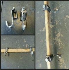 Target-shooting-hook-bracket-stands-gong-ar500-a36-steel