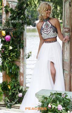 Beaded A Line Sherri Hill Prom Dress 50075
