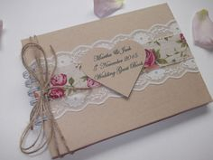 NEW Vintage Wedding Guest Book Personalised SHABBY CHIC ~BOXED~ in Home, Furniture & DIY, Wedding Supplies, Guest Books & Pens | eBay!