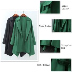 Casual Long Sleeve Lapel Solid Color Jacket For Women - Gchoic.com