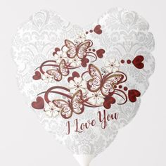 Shop White Lace Hearts & Butterflies Heart Balloon created by BlueRose_Design. Helium Gas, Hearts And Roses, Custom Balloons, Lace Heart, Heart Balloons, Note Cards, White Lace, Colorful Backgrounds, Tatting