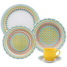 Aparelho de Jantar Floreal Bilro - Oxford Daily - Oxford Porcelanas