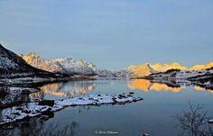 Grete Johnsens utrolig vakre bilde fra Eidsfjorden i Vesteraalen tatt i går