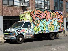 Graffiti Truck, Hunts Point, South Bronx NYC by jag9889, via Flickr