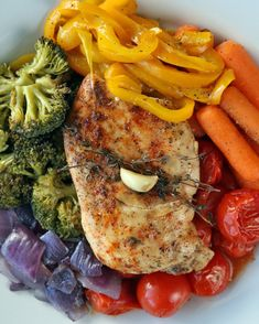 Easy Chicken and Rainbow Veggies