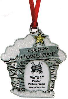 Happy Howlidays Dog House Christmas Ornament