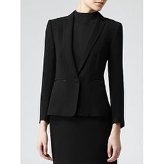 Reiss Waffle Textured Latin Blazer  Simple blazer cut but in a waffle fabric so a little more casual