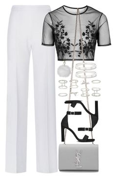 """Untitled #3920"" by amyn99 ❤ liked on Polyvore featuring BOSS Hugo Boss, Topshop, Yves Saint Laurent, Forever 21 and Cartier"