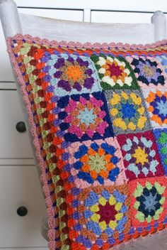 granny crochet cushion