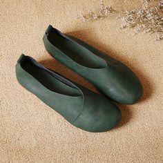 7bb3b4dcf85d Cheap leather flat shoes women