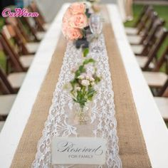 Cheap Table Runners, Buy Directly from China Suppliers:Elegant Jute Table Runner Burlap Lace Table Cloth Wedding Party home Decoration Tablecloth table runners modern for dining table Lace Tablecloth Wedding, Burlap Lace Table Runner, Lace Runner, Burlap Table Runners, Picnic Table Wedding, Burlap Chair, Wedding Picnic Tables, Wedding Table Runners, Rustic Country Wedding Decorations